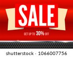 sales banner with text design....   Shutterstock .eps vector #1066007756
