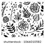 flower frame template. floral... | Shutterstock .eps vector #1066010582