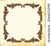 retro baroque decorations...   Shutterstock .eps vector #1066011098