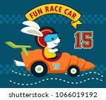 fun race cartoon with cute... | Shutterstock .eps vector #1066019192