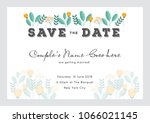 save the date invitation card... | Shutterstock .eps vector #1066021145