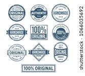 100  original handmade... | Shutterstock .eps vector #1066035692