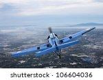 vintage war plane in a... | Shutterstock . vector #106604036