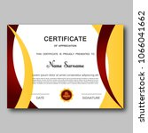 certificate of appreciation... | Shutterstock .eps vector #1066041662