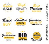 stock collection of labels with ... | Shutterstock . vector #1066044458