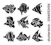 fish animal aquatic black...   Shutterstock .eps vector #1066052456