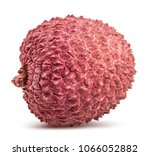 fresh sweet lychee isolated on...   Shutterstock . vector #1066052882