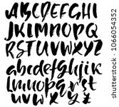 handdrawn dry brush font.... | Shutterstock .eps vector #1066054352