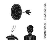 manipulation by hands black... | Shutterstock .eps vector #1066059056