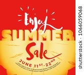 enjoy summer sale typography on ... | Shutterstock .eps vector #1066059068