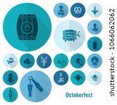 oktoberfest beer festival. long ... | Shutterstock .eps vector #1066062062