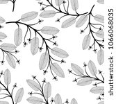 seamless pattern with leaves.... | Shutterstock .eps vector #1066068035