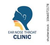 ear nose throat  ent  logo for... | Shutterstock .eps vector #1066072178