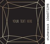 gold polygonal frame on a black ... | Shutterstock .eps vector #1066072298
