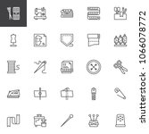 sewing outline icons set.... | Shutterstock .eps vector #1066078772
