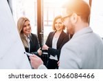 business team at the... | Shutterstock . vector #1066084466