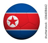 North Korea  Flag Pattern 3d rendering of a soccer ball - stock photo