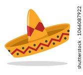 sombrero mexican hat vector... | Shutterstock .eps vector #1066087922
