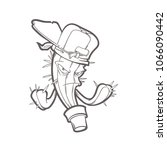 vector hand drawn illustration... | Shutterstock .eps vector #1066090442