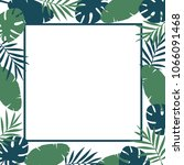 summer tropical leaves... | Shutterstock .eps vector #1066091468