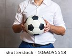 a businessman in a white shirt... | Shutterstock . vector #1066095518