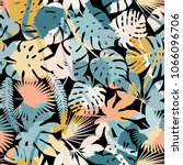 exotic paradise plant seamless... | Shutterstock .eps vector #1066096706