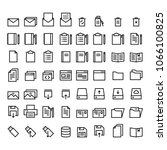 document icons set | Shutterstock .eps vector #1066100825