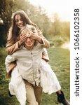 beautiful couple dressed in...   Shutterstock . vector #1066102358