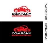 sport car logo vector | Shutterstock .eps vector #1066107392
