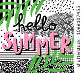 hello summer. cute card with... | Shutterstock .eps vector #1066107455