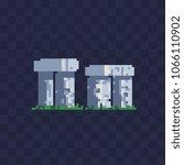 Stonehenge Pixel Art Icon...