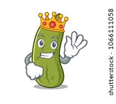 king pickle mascot cartoon style | Shutterstock .eps vector #1066111058