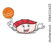 with basketball tako sushi... | Shutterstock .eps vector #1066111625