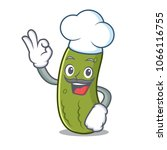 chef pickle character cartoon... | Shutterstock .eps vector #1066116755