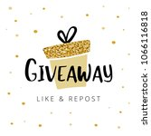 giveaway vector illustration... | Shutterstock .eps vector #1066116818