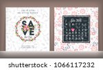 save the date. wedding... | Shutterstock .eps vector #1066117232