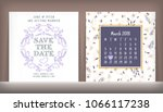 save the date. wedding... | Shutterstock .eps vector #1066117238