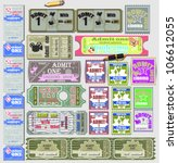 tickets  in different styles... | Shutterstock .eps vector #106612055