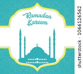 ramadan greeting card design.... | Shutterstock .eps vector #1066126562