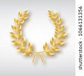 award laurel. symbol of victory ... | Shutterstock .eps vector #1066131356