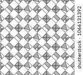 seamless pattern. black and... | Shutterstock . vector #1066131392