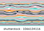 flowing lines and waves  retro... | Shutterstock .eps vector #1066134116