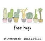 cactus isolated on white...   Shutterstock .eps vector #1066134188