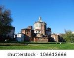 St. Lorenzo church and basilica park, Milan, Lombardy, Italy - stock photo