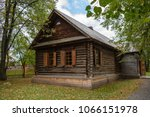 old well maintained log wooden... | Shutterstock . vector #1066151978