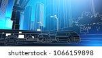 modern city road thin line... | Shutterstock .eps vector #1066159898
