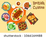 british cuisine traditional... | Shutterstock .eps vector #1066164488