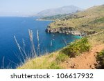 wild beautiful coast in the...
