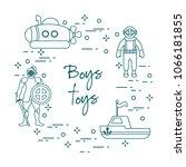 children's toys for the boy ... | Shutterstock .eps vector #1066181855