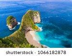 manta bay  kelingking beach ... | Shutterstock . vector #1066182878